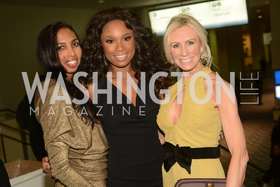 Gail Holman, Jennifer Hudson, Carole Vargas,  The Official Presidential Inaugural Ball. Walter E. Convention Center. Photo by Ben Droz.