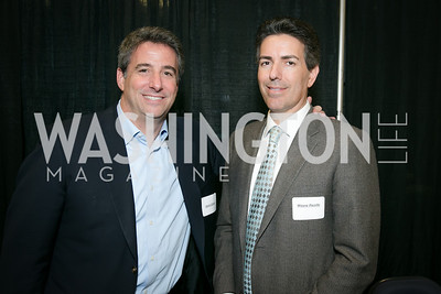 Devin Schain, Wayne Pacelle. Photo by Alfredo Flores. On Behalf of Sandy Hook Promise, Newtown, CT. Verizon Center. December 2, 2013.