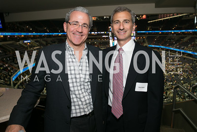 Cliff White, Tony Nader. Photo by Alfredo Flores. On Behalf of Sandy Hook Promise, Newtown, CT. Verizon Center. December 2, 2013.
