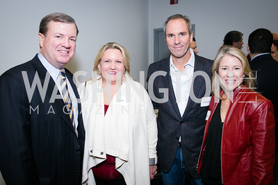 Dan Jobe, Lisa Jobe, Brien Biondi, Amy Biondi. Photo by Alfredo Flores. On Behalf of Sandy Hook Promise, Newtown, CT. Verizon Center. December 2, 2013.