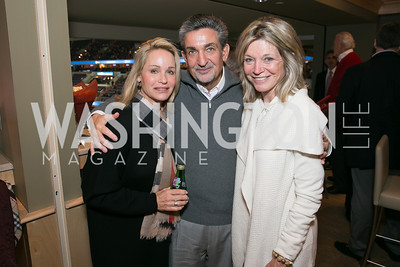 Lynn Leonsis, Ted Leonsis, Kay Kendall. Photo by Alfredo Flores. On Behalf of Sandy Hook Promise, Newtown, CT. Verizon Center. December 2, 2013.