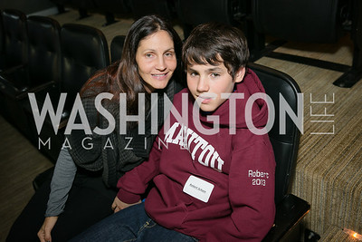 Sarah Schain, Robert Schain. Photo by Alfredo Flores. On Behalf of Sandy Hook Promise, Newtown, CT. Verizon Center. December 2, 2013.
