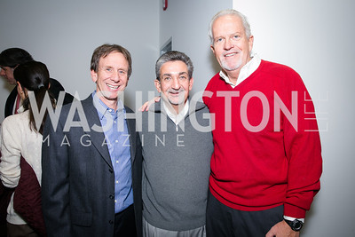 Neil Cohen, Ted Leonsis, Jack Davies. Photo by Alfredo Flores. On Behalf of Sandy Hook Promise, Newtown, CT. Verizon Center. December 2, 2013.