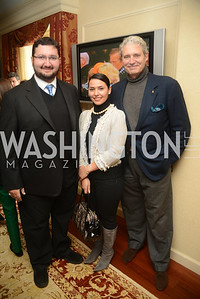 Abdul-Aziz bin Talal bin Abdul-Aziz Al Saud, Princess  Sora bint Saud, Michael Nouri, Open House and Review of Inaugural Parade for President Barack Obama.  Willard Intercontinental Hotel, Washington Suite, 10th Floor. Hosted by Lisa Barry, VP and Governmental Relations Manager, Chevron.  Photo by Ben Droz.