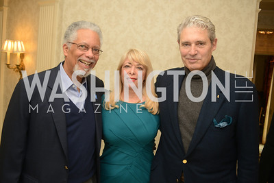 Ambassador Robert Perry, Bernadette Paolo, Michael Nouri,Open House and Review of Inaugural Parade for President Barack Obama.  Willard Intercontinental Hotel, Washington Suite, 10th Floor. Hosted by Lisa Barry, VP and Governmental Relations Manager, Chevron.  Photo by Ben Droz.