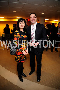 Sheryl Gao,John Reid.April 3,2013,Qorvis Communication's Book Party for David Stockman,Kyle Samperton