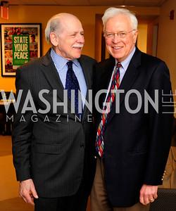 Chuck Conconi, Bill Press,April 3,2013,Qorvis Communication's Book Party for David Stockman,Kyle Samperton