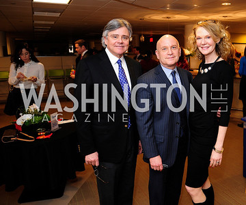Ron Faucheux, Stan Collender,Maura McGinn,April 3,2013,Qorvis Communication's Book Party for David Stockman,Kyle Samperton