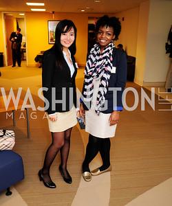 Chloe Wu,Dianne Osei,April 3,2013,Qorvis Communication's Book Party for David Stockman,Kyle Samperton
