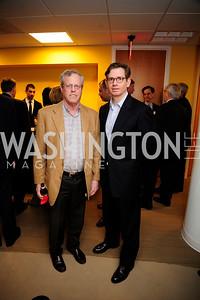 Peter Safir,Nils Overpark,April 3,2013,Qorvis Communication's Book Party for David Stockman,Kyle Samperton