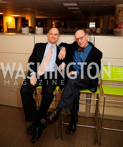 Bill Nitze,Finley Lewis.April 3,2013,Qorvis Communication's Book Party for David Stockman,Kyle Samperton