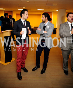 Flavius Mihaies,Salman Aljalahma,April 3,2013,Qorvis Communication's Book Party for David Stockman,Kyle Samperton