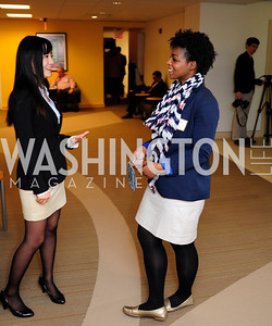 Chloe Wu,Dianne Osei,April 3,2013,Qorvis Communication's Book Party for David Stockman,Kyle Samperton