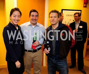 Tina Jeon, Davi Sayian,Chris Kalil,April 3,2013,Qorvis Communication's Book Party for David Stockman,Kyle Samperton