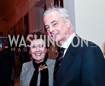 Gabrielle Bekink and Dutch Ambassador Rudolf Bekink. Photo by Tony Powell. Reception and Presentation on the Cyrus Cylinder. British Ambassador's residence. March 6, 2013