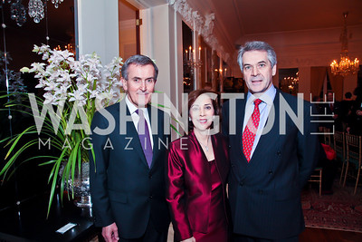 Neil MacGregor, Lady Westmacott and British Amb. Sir Peter Westmacott. Photo by Tony Powell. Reception and Presentation on the Cyrus Cylinder. British Ambassador's residence. March 6, 2013