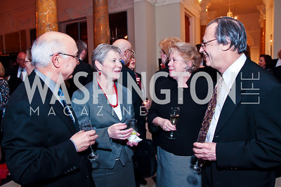 Gholam Afkhami, Barbara Hay, Jacqui and Marc Plattner. Photo by Tony Powell. Reception and Presentation on the Cyrus Cylinder. British Ambassador's residence. March 6, 2013