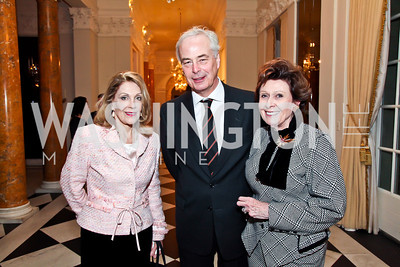 Dame Jillian Sackler, Dutch Ambassador Rudolf Bekink and Gabrielle Bekink. Photo by Tony Powell. Reception and Presentation on the Cyrus Cylinder. British Ambassador's residence. March 6, 2013
