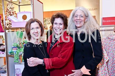 Ellen Haas, Karen Fawcett, Penny Conaway. Photo by Tony Powell. Reception for Ken Downing Gift Collection to benefit THEARC. Neiman Marcus. November 20, 2013