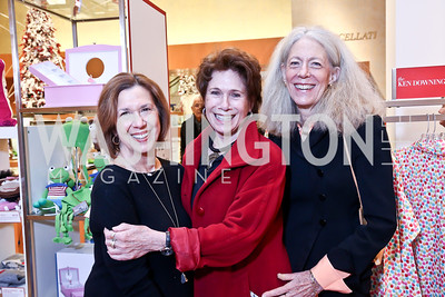 Ellen Haas, Karen Fawcett, Penny Conaway. Photo by Tony Powell. Reception for Ken Downing Gift Collection to benefit THEARC. Neiman Marcus. November 20, 2013