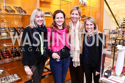 Becky Wilsusen, Elizabeth Engel, Cathie Martin, Kimberly Shur. Photo by Tony Powell. Reception for Ken Downing Gift Collection to benefit THEARC. Neiman Marcus. November 20, 2013