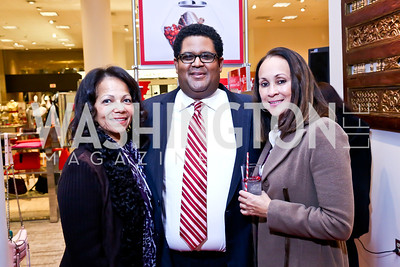 Lorraine Washington, Edmund Fleet, Monique Parker. Photo by Tony Powell. Reception for Ken Downing Gift Collection to benefit THEARC. Neiman Marcus. November 20, 2013