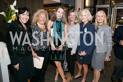 Nora Maccoby, Tamara Buchwald, Leslie Cockburn, Kay Kendall, Caroline Croft, Willee Lems. Photo by Alfredo Flores. Reception for Leslie Cockburn's new book Baghdad Solitaire. A Bar at Avenue Suites. October 10, 2013