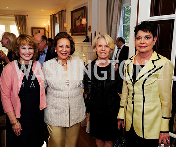 Ann Hand,Alma Powell,Leslie Hayes,Diane Jones,April 9,2013,Reception for Light Of Healing Hope Foundation at The Residence of  The French Ambassador,Kyle Samperton