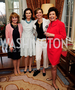 Ann Hand,Alexandra de Borchgrave,  Sophie DeLattre, Gabrielle Bekink.April 9,2013,Reception for Light Of Healing Hope Foundation at The Residence of  The French Ambassador,Kyle Samperton