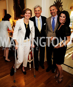 Sophie DeLattre,Stuart Bernstein,Adam Bernstein,Tracy Bernstein,April 9,2013,Reception for Light Of Healing Hope Foundation at The Residence of  The French Ambassador,Kyle Samperton
