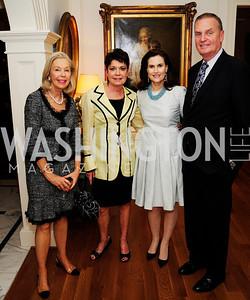 Nina Pillsbury, Diane Jones,Alexandra de Borchgrave,Jim Jones,April 9,2013,Reception for Light Of Healing Hope Foundation at The Residence of  The French Ambassador,Kyle Samperton