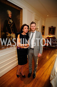 Aniko Gaal Schott,Matthew Kroenig,,April 9,2013,Reception for Light Of Healing Hope Foundation at The Residence of  The French Ambassador,Kyle Samperton