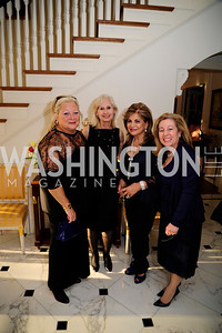 Connie Milstein,Willee  Lewis,Annie Totah,Nancy Itteilag Donnelly,April 9,2013,Reception for Light Of Healing Hope Foundation at The Residence of  The French Ambassador,Kyle Samperton