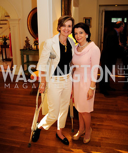 Sophe DeLattre, JoAnn Mason,,April 9,2013,Reception for Light Of Healing Hope Foundation at The Residence of  The French Ambassador,Kyle Samperton