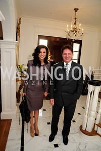 Charif Souki,Majina Mourad,April 9,2013,Reception for Light Of Healing Hope Foundation at The Residence of  The French Ambassador,Kyle Samperton