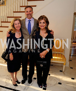 Nancy Itteilag Donnelly,Adam Bernstein, Annie Totah,April 9,2013,Reception for Light Of Healing Hope Foundation at The Residence of  The French Ambassador,Kyle Samperton