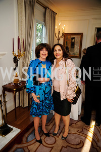 Didi Cutler,Samia FaroukiApril 9,2013,Reception for Light Of Healing Hope Foundation at The Residence of  The French Ambassador,Kyle Samperton