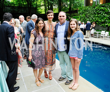 Lauren Shweder Biel,Maggie Gyllenhaal,Jose Andres,Carlotta Andres,June 3 ,2013, Reception for dcgreens,Kyle Samperton