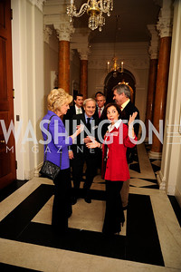Tina Brown, Sir Harold Evans,Sir Peter Westmacott,Lady Westmacott,January 19,2013,Reception  for The 57th Presidential Inauguration at the Residence of The British Ambassador,Kyle Samperton