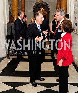 William Enyart,Sir Peter Westmacott,Lady Westmacott,January 19,2013,Reception  for The 57th Presidential Inauguration at the Residence of The British Ambassador,Kyle Samperton