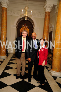 Sir Peter Westmacott,Mayor Michael Nutter,Lady Westmacott,,January 19,2013,Reception  for The 57th Presidential Inauguration at the Residence of The British Ambassador,Kyle Samperton