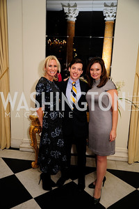 Carol Vargas,Gideon Bresler,Rosie Rios,January 19,2013,Reception  for The 57th Presidential Inauguration at the Residence of The British Ambassador,Kyle Samperton
