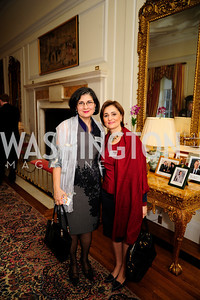 Mehrnaz Teymourian,Darya Nasr,,January 19,2013,Reception  for The 57th Presidential Inauguration at the Residence of The British Ambassador,Kyle Samperton