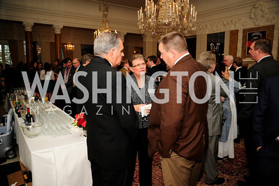 Sec.Ray LaHood,Sharla Tester,Sen.John Tester,January 19,2013,Reception  for The 57th Presidential Inauguration at the Residence of The British Ambassador,Kyle Samperton