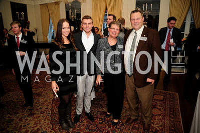 Sherrie Staley,Shon Tester,Sharla Tester,Sen.John Tester,January 19,2013,Reception  for The 57th Presidential Inauguration at the Residence of The British Ambassador,Kyle Samperton