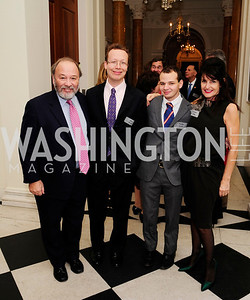 Joe Klein,Chris Klein ,Teddy Klein,Victoria Klein,January 19,2013,Reception  for The 57th Presidential Inauguration at the Residence of The British Ambassador,Kyle Samperton