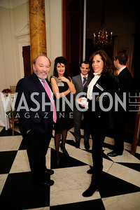 Joe Klein,Victoria Klein,Beth Dozoretz,January 19,2013,Reception  for The 57th Presidential Inauguration at the Residence of The British Ambassador,Kyle Samperton