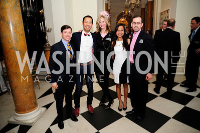 Gideon Bresler,Ben Chang,Ashley Chandler,Joyce Pasion,Eric Pelofsky,January 19,2013,Reception  for The 57th Presidential Inauguration at the Residence of The British Ambassador,Kyle Samperton