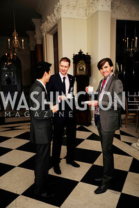 Mervyn Tang,Dan Gallagher,Peter Matheson,January 19,2013,Reception  for The 57th Presidential Inauguration at the Residence of The British Ambassador,Kyle Samperton