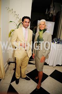 Renaud de Viel Castel,Christine Lagarde,July 25,2013,Reception in Celebration of the birth of HRH Prince George of Cambridge at the Residence of The British Ambassador,Kyle Samperton